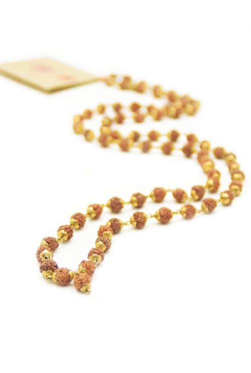 Holy Mantra mala ketting Goud